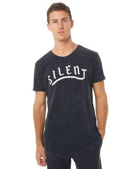 WHITE BLACK MENS CLOTHING SILENT THEORY TEES - 4001025WBLK