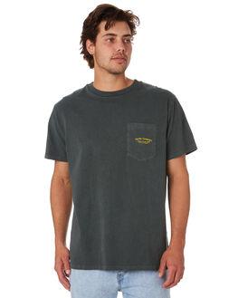 MERCH BLACK MENS CLOTHING THRILLS TEES - TS9-121MBMCBLK