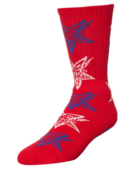 RED MENS ACCESSORIES HUF SOCKS + UNDERWEAR - SK55D01RED
