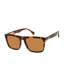 TORT/BWN POLARIZED MENS ACCESSORIES QUIKSILVER SUNGLASSES - EQYEY03091-XSCC