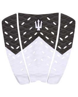 BLACK WHITE SURF HARDWARE FAR KING TAILPADS - 1204BLKWH
