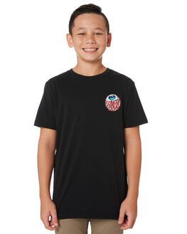 BLACK KIDS BOYS SANTA CRUZ TOPS - SC-YTA9194BLK