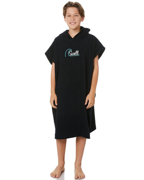 BLACK KIDS BOYS SWELL TOWELS - S32221801BLACK