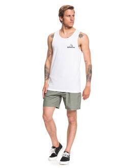 WHITE MENS CLOTHING QUIKSILVER SINGLETS - EQYZT05681-WBB0