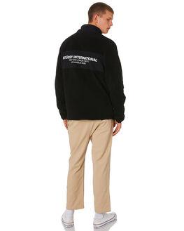 BLACK MENS CLOTHING STUSSY JUMPERS - ST091207BLACK