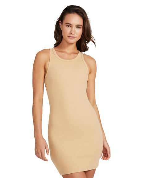 CAMEL TAN WOMENS CLOTHING GENERAL PANTS CO. BASICS DRESSES - 26222600022