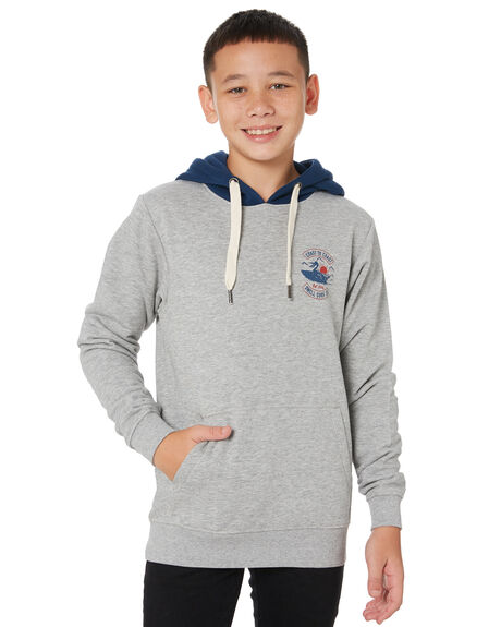 GREY MARLE KIDS BOYS SWELL JUMPERS + JACKETS - S3204441GRYMA