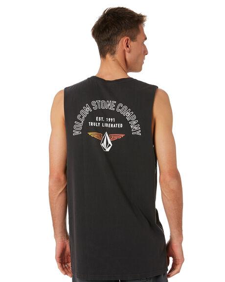 BLACK MENS CLOTHING VOLCOM SINGLETS - A3732070BLK