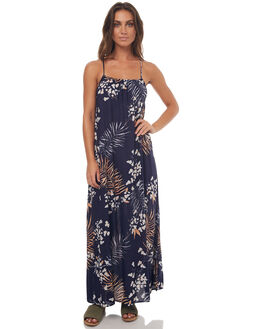 NAVY BLUE WOMENS CLOTHING RUSTY DRESSES - SCL0268NVB