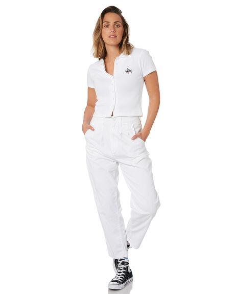 WHITE WOMENS CLOTHING STUSSY TEES - ST102102WHT