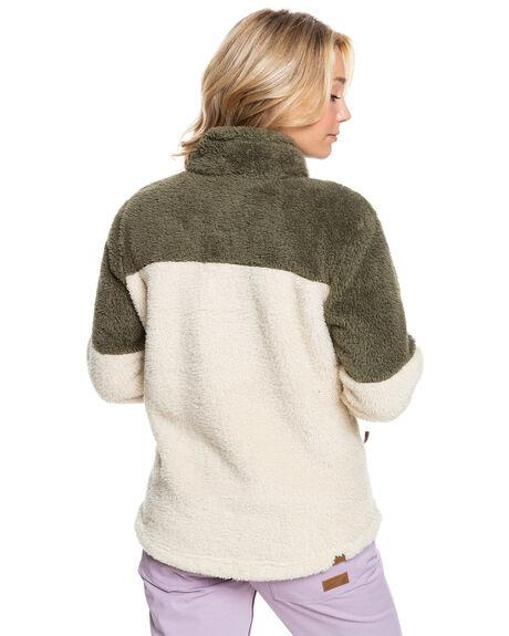 PARCHMENT WOMENS CLOTHING ROXY HOODIES + SWEATS - ERJFT04409-TEC0