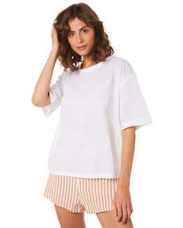 WHITE WOMENS CLOTHING ZULU AND ZEPHYR TEES - ZZ2211WHT