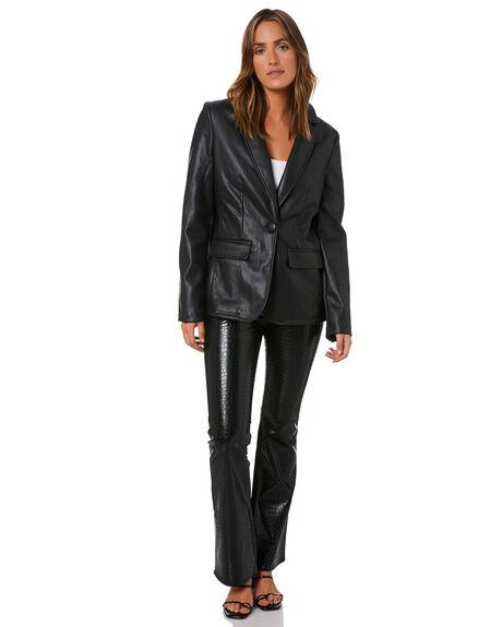 BLACK WOMENS CLOTHING UNREAL FUR JACKETS - URF8200165BLK
