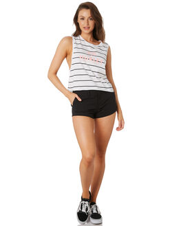 WHITE WOMENS CLOTHING HURLEY SINGLETS - CK9354100