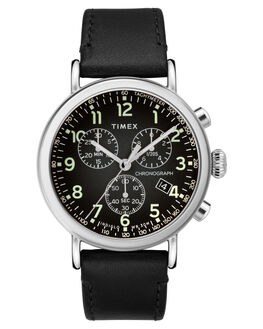 BLACK SILVER MENS ACCESSORIES TIMEX WATCHES - TW2T21100BLKSI