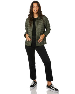 NEW TAUPE GREEN WOMENS CLOTHING THE NORTH FACE JACKETS - NF0A3YSTG5B