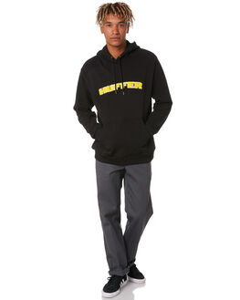 BLACK MENS CLOTHING HUFFER JUMPERS - MHD02S3001BLK