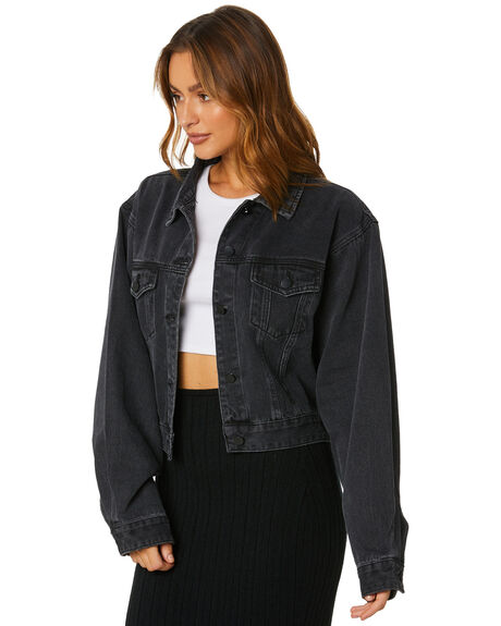 BLACK WOMENS CLOTHING SNDYS JACKETS - SD014BLK