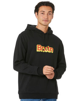 BLACK MENS CLOTHING BRIXTON JUMPERS - 02686BLACK