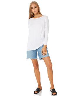 WHITE WOMENS CLOTHING BETTY BASICS TEES - BB533T20WHT
