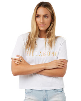 WHITE WOMENS CLOTHING BILLABONG TEES - 6572016WHT