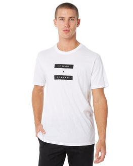 WHITE MENS CLOTHING THRILLS TEES - TW8-117AWHT