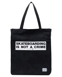 CRIME BLACK MENS ACCESSORIES HERSCHEL SUPPLY CO BAGS + BACKPACKS - 10611-02758-OSBLK