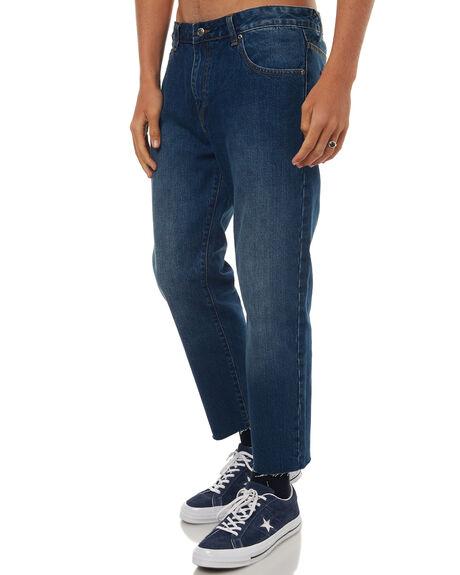 WORN MID BLUE MENS CLOTHING DR DENIM JEANS - 1630114-G43