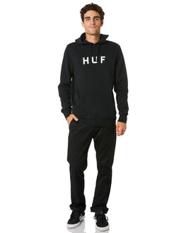 BLACK MENS CLOTHING HUF JUMPERS - PF00099-BLACK