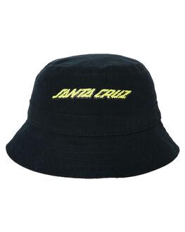 BLACK KIDS BOYS SANTA CRUZ HEADWEAR - SC-YCA0386BLK