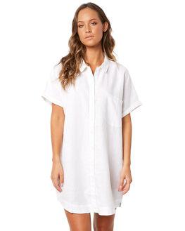 WHITE WOMENS CLOTHING RHYTHM DRESSES - JUL18W-DR07WHT