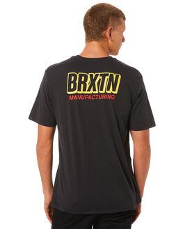 WASHED BLACK MENS CLOTHING BRIXTON TEES - 06924WABLK