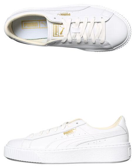 97d36fab Puma Basket Platform Womens Sneaker - White | SurfStitch