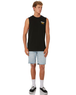 BLACK MENS CLOTHING DEPACTUS SINGLETS - D5202275BLACK