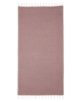 CHARCOAL BURGUNDY WOMENS ACCESSORIES MAYDE TOWELS - 19NOOSACBCB