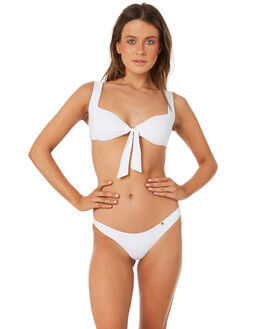 WHITE WOMENS SWIMWEAR AMORE AND SORVETE BIKINI BOTTOMS - S1BELLINIBTMWHT