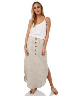 STRIPE GOLD WOMENS CLOTHING WILDE WILLOW SKIRTS - K358-1STR