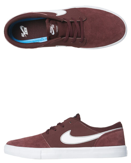 BURGUNDY CRUSH WHITE MENS FOOTWEAR NIKE SKATE SHOES - 880266-600