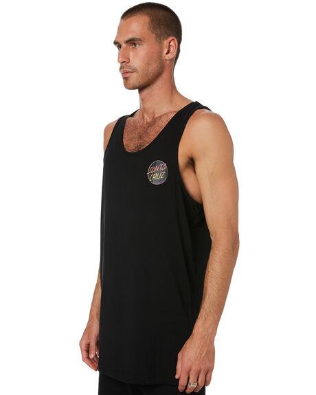 BLACK MENS CLOTHING SANTA CRUZ SINGLETS - SC-MTD0798BLK