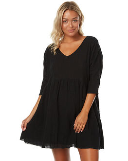 BLACK WOMENS CLOTHING ZULU AND ZEPHYR DRESSES - ZZ1411BLK