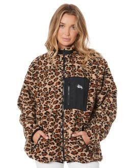 LEOPARD WOMENS CLOTHING STUSSY JACKETS - ST105700LEOP