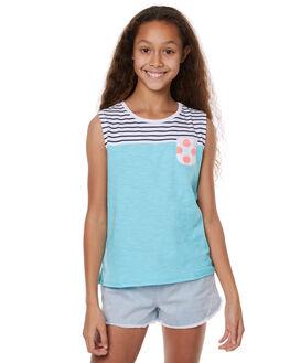 NAVY WHITE KIDS GIRLS EVES SISTER SINGLETS - 9900008NVYWT