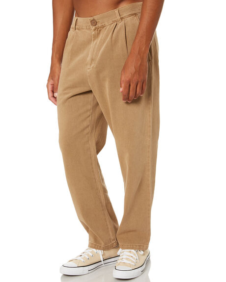 TANNIN MENS CLOTHING STUSSY PANTS - ST001609TANN