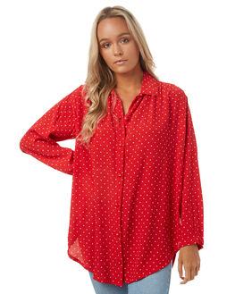 RED POLKA WOMENS CLOTHING SAINT HELENA FASHION TOPS - SH2A600CREDP