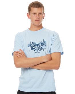 POWDER BLUE MENS CLOTHING PASS PORT TEES - FRISKPBLU
