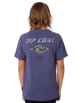 WASHED NAVY KIDS BOYS RIP CURL TOPS - KTEWK29741
