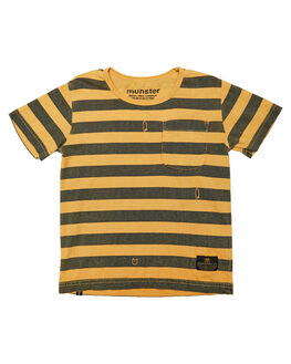 WASHED MUSTARD KIDS TODDLER BOYS MUNSTER KIDS TOPS - MK182TE04WBLK
