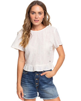 SNOW WHITE WOMENS CLOTHING ROXY FASHION TOPS - ERJWT03381-WBK0