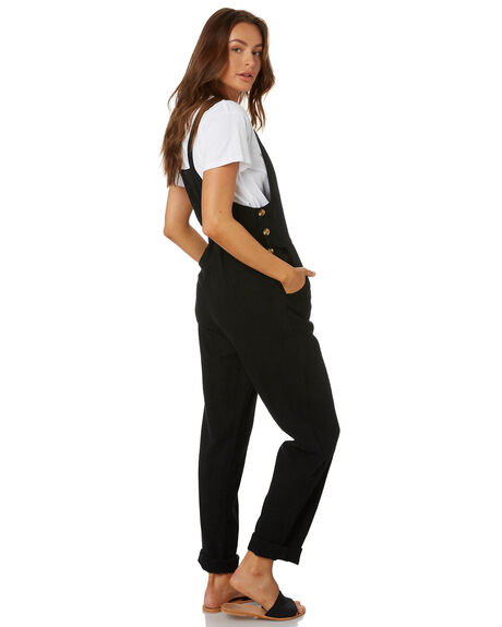 BLACK WOMENS CLOTHING RUSTY PLAYSUITS + OVERALLS - MCL0324BLK