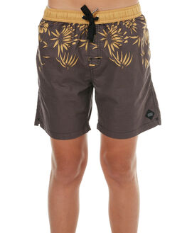 BLACK KIDS BOYS SWELL BOARDSHORTS - S3183235BLACK